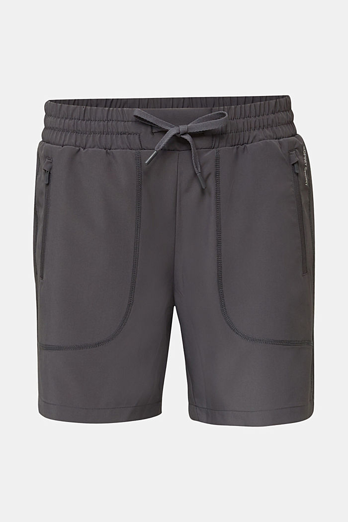 Active shorts with pockets, E-DRY, ANTHRACITE, detail image number 4