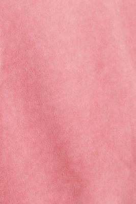 Short-sleeved hoodie in a vintage look, CORAL RED, detail