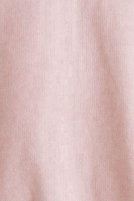 Short-sleeved hoodie in a vintage look, LIGHT PINK, detail