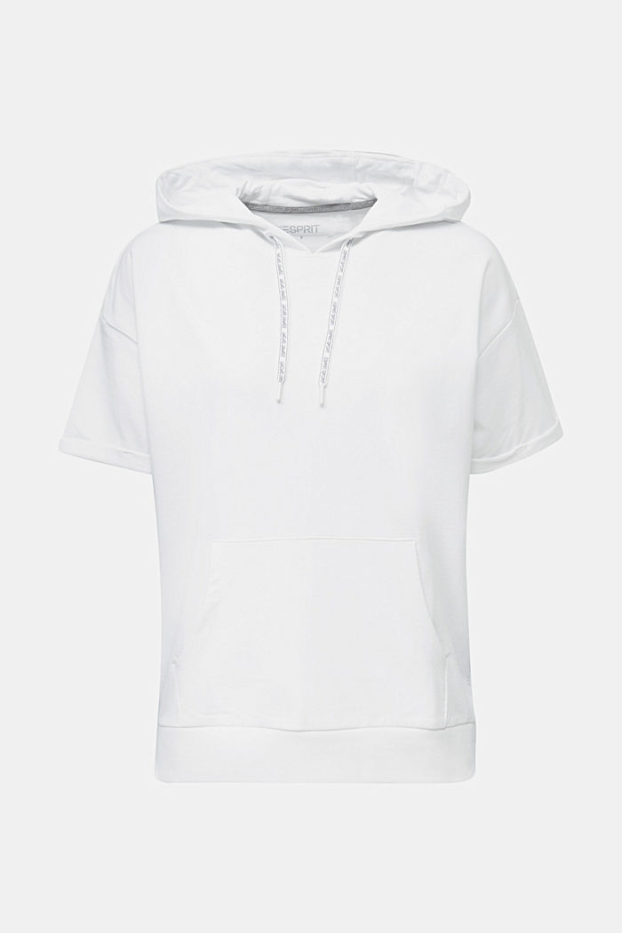 Stretch short-sleeved hoodie, WHITE, detail image number 5
