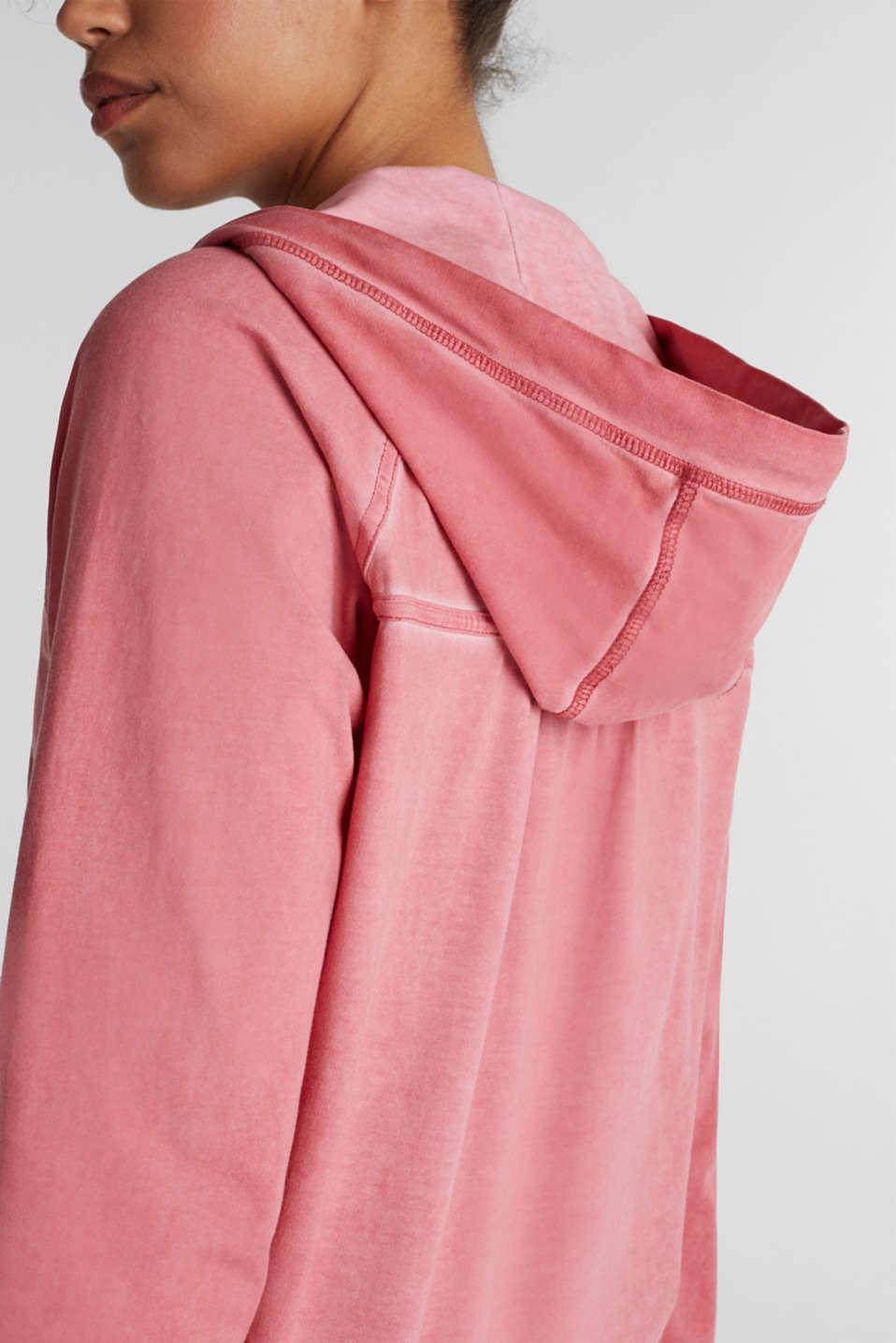 Vintage cardigan, stretch jersey, CORAL RED, detail image number 2