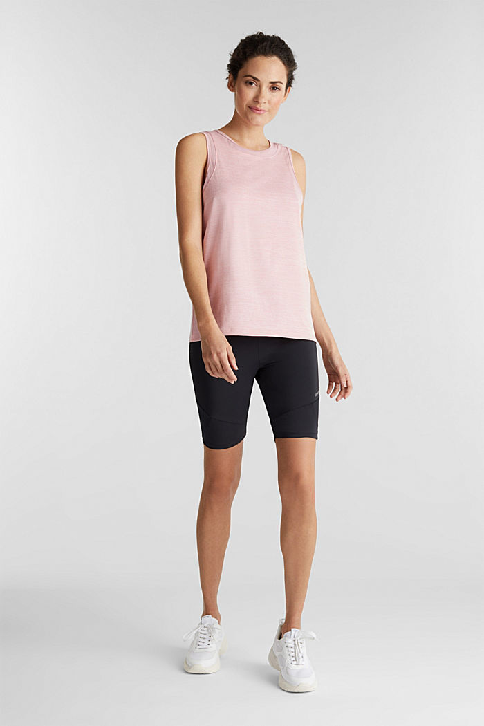 Active E-DRY top with mesh details, OLD PINK, detail image number 1