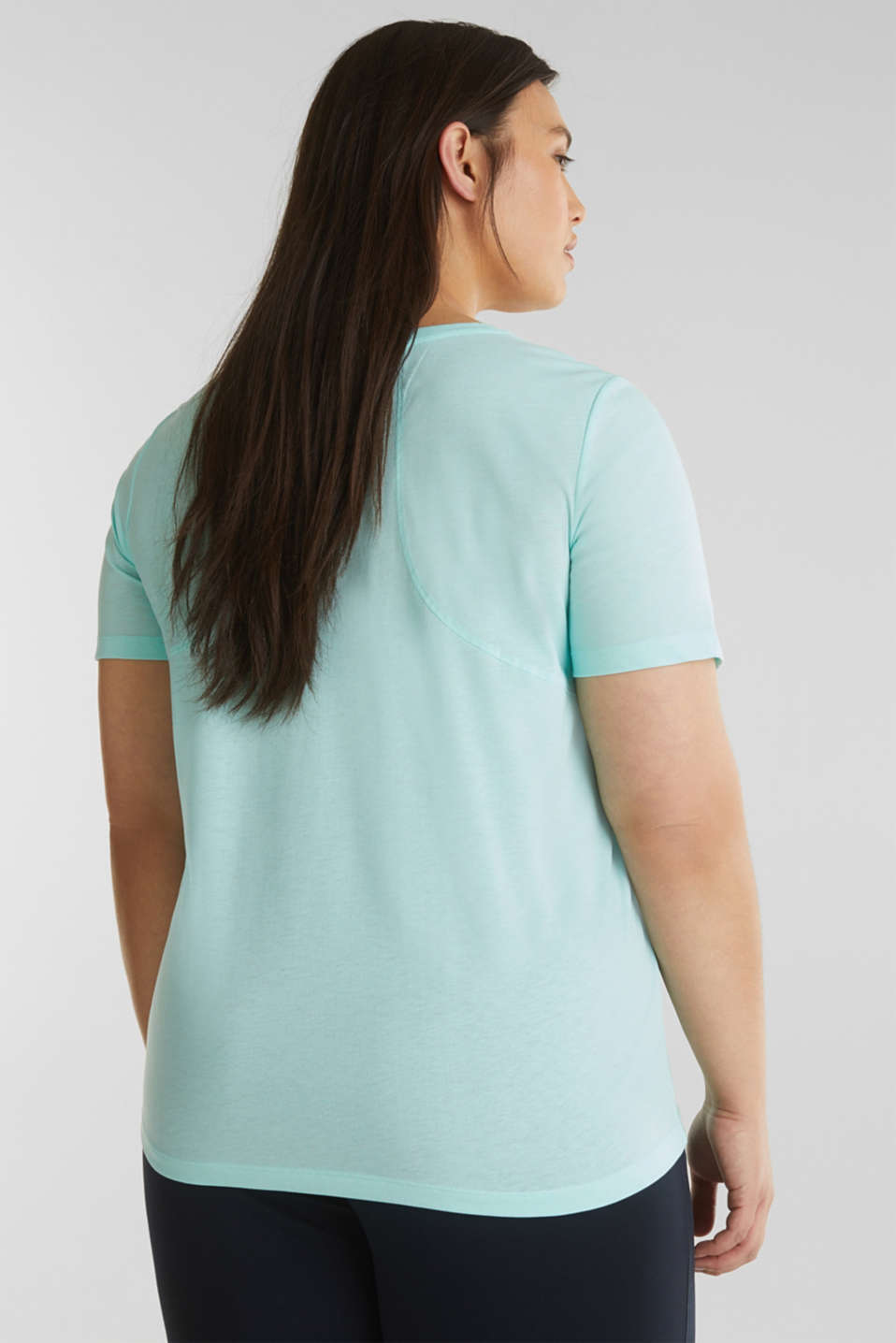CURVY top with a statement print, TURQUOISE 2, detail image number 2