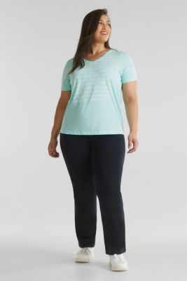 CURVY top with a statement print, TURQUOISE 2, detail
