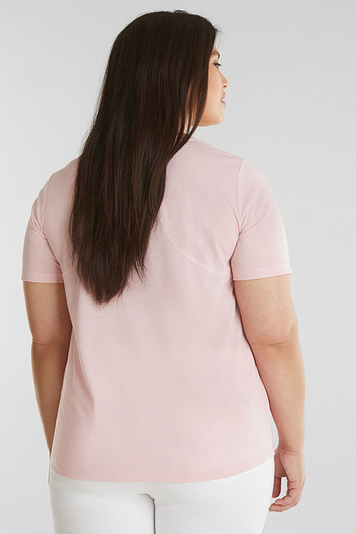 CURVY top with a statement print, LIGHT PINK, detail image number 2