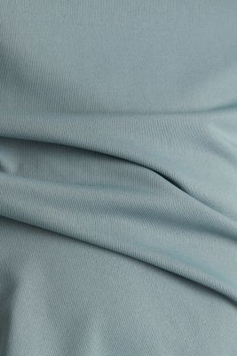 Jersey top with stripes, E-DRY, DUSTY GREEN, detail
