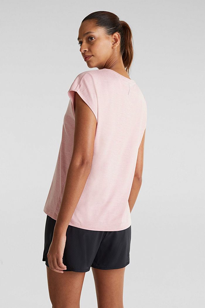 Melange stretch top, E-DRY, OLD PINK, detail image number 1