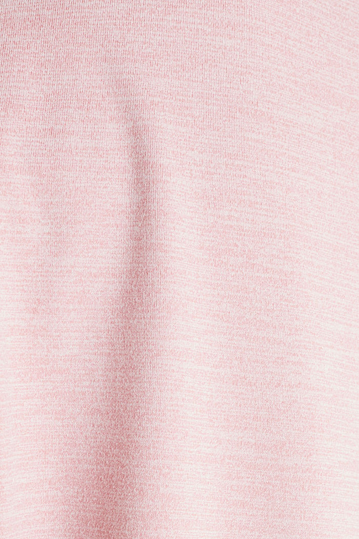 Melange stretch top, E-DRY, OLD PINK, detail image number 2