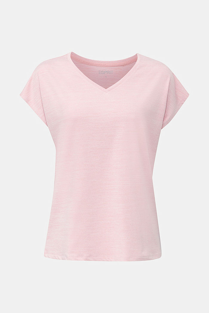 Melange stretch top, E-DRY
