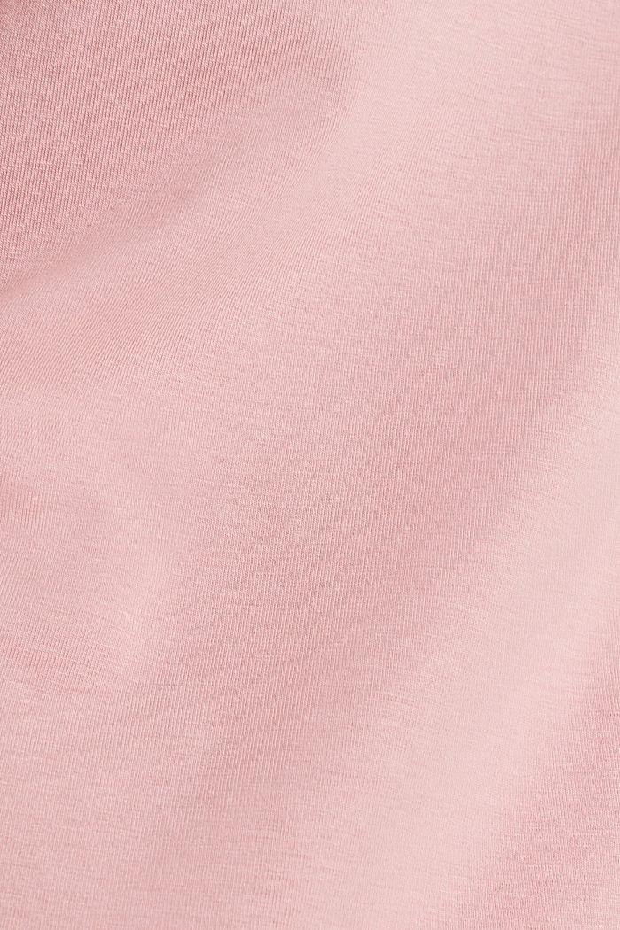 Shirt met stretch en split op de achterkant, OLD PINK, detail image number 3