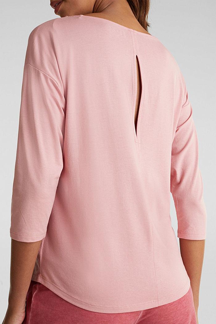 Shirt met stretch en split op de achterkant, OLD PINK, detail image number 4