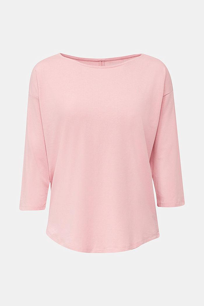 Shirt met stretch en split op de achterkant, OLD PINK, detail image number 5
