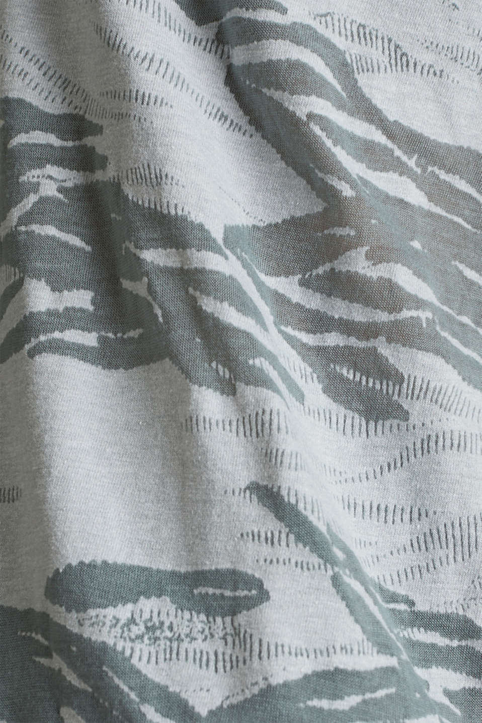 Top with a burnt-out pattern, DUSTY GREEN, detail image number 4