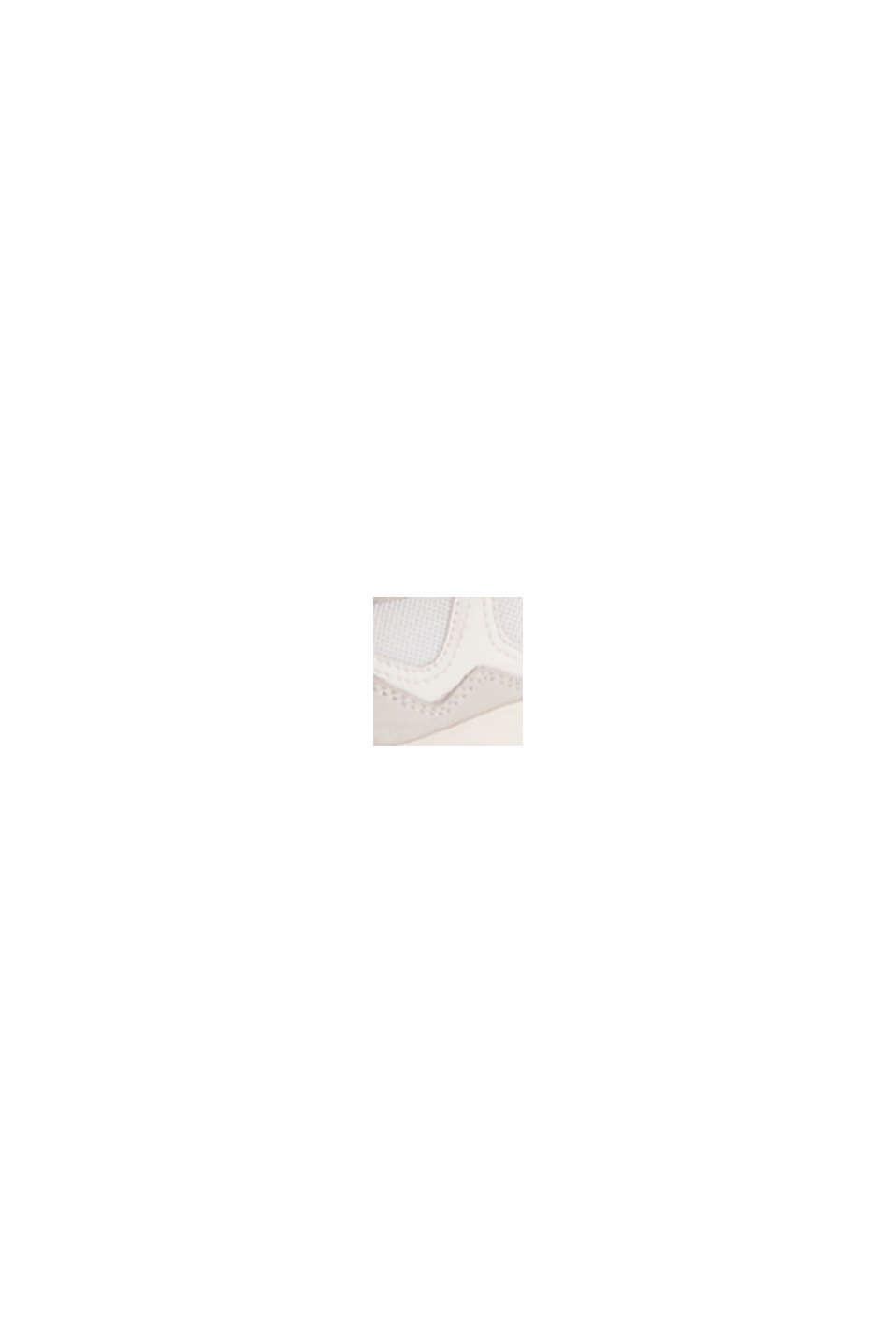 Leder-Mix-Sneaker mit Neon-Details, WHITE, swatch