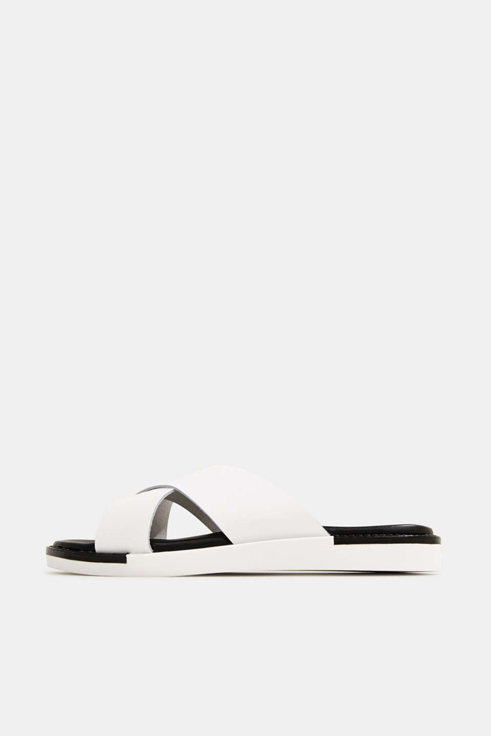 Esprit - Leather slip-ons with wide straps