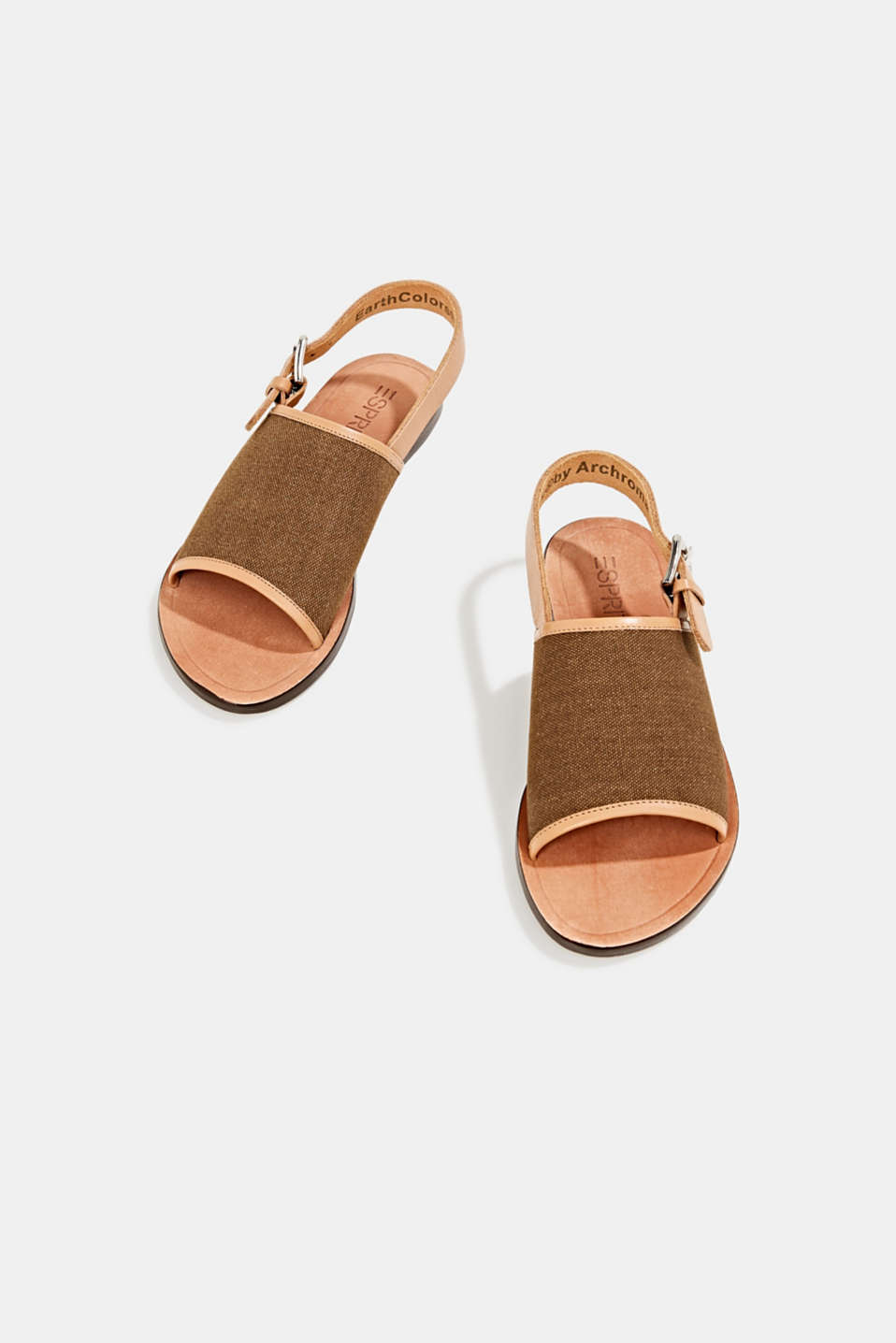 EarthColors® canvas sandals, SKIN BEIGE, detail image number 1