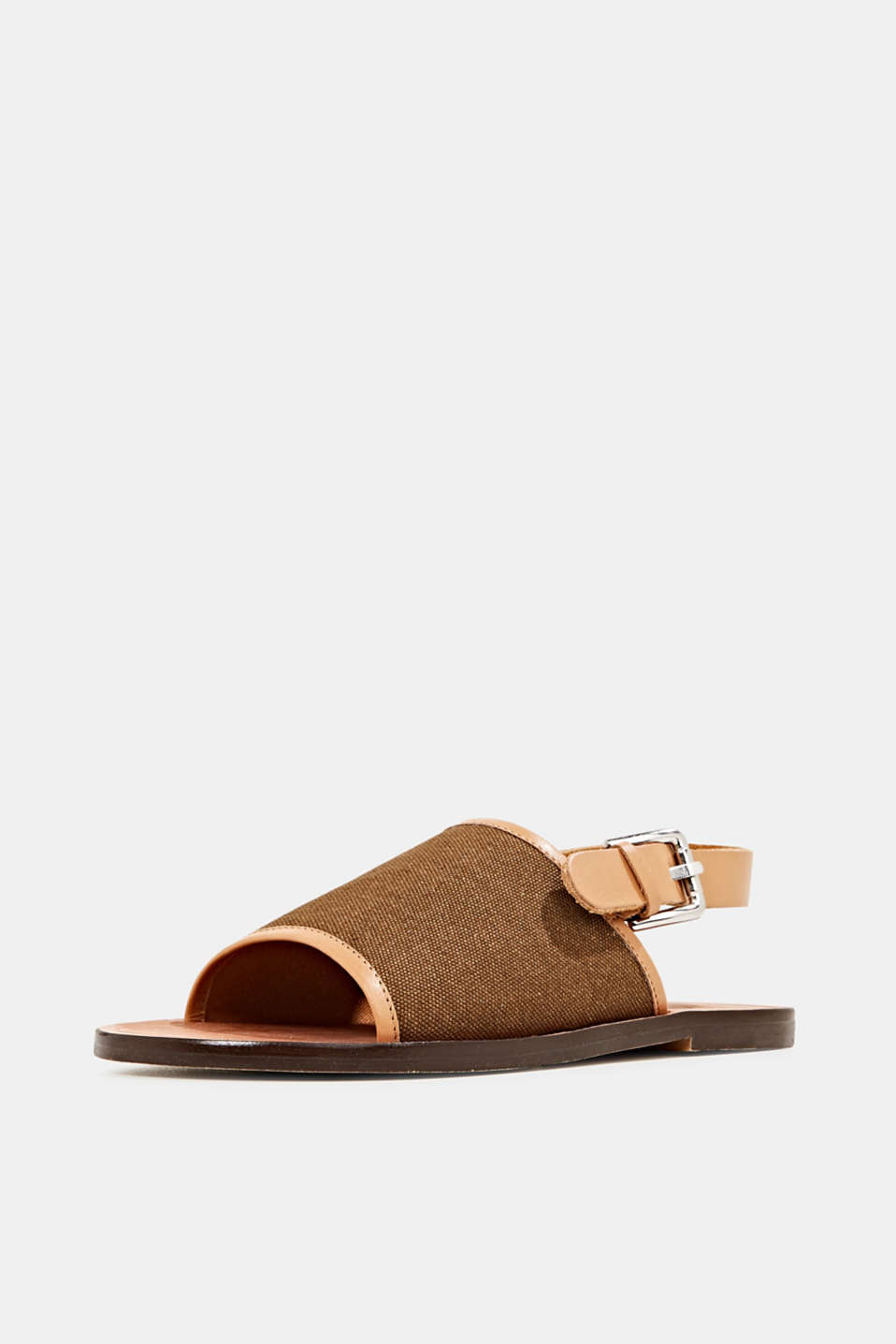 EarthColors® canvas sandals, SKIN BEIGE, detail image number 2