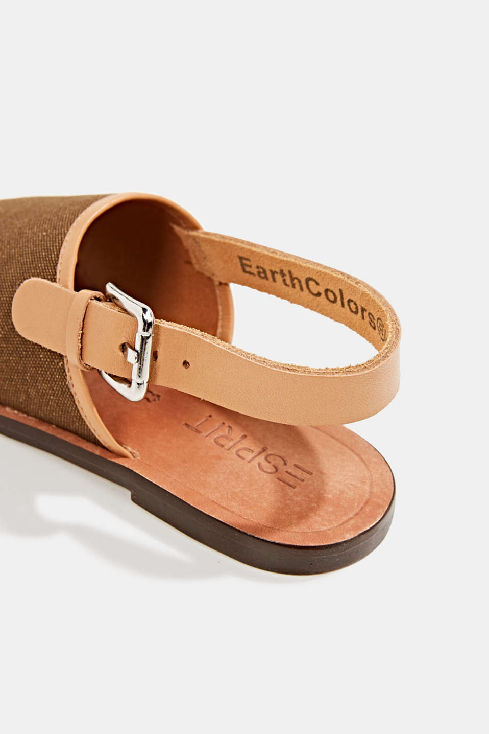 EarthColors® canvas sandals, SKIN BEIGE, detail image number 5