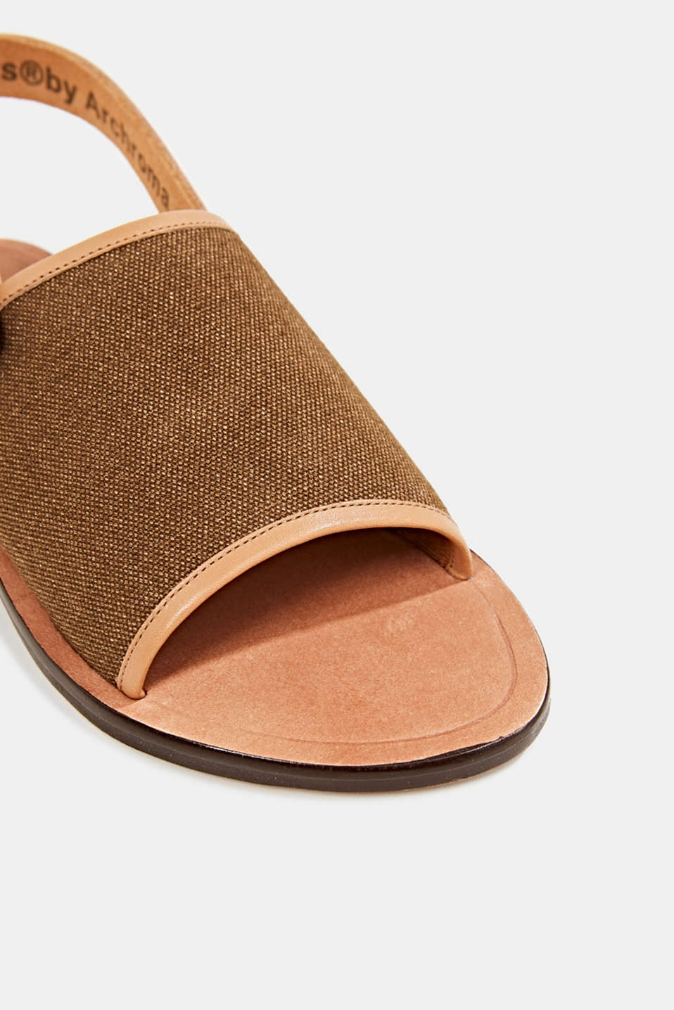 EarthColors® canvas sandals, SKIN BEIGE, detail image number 4