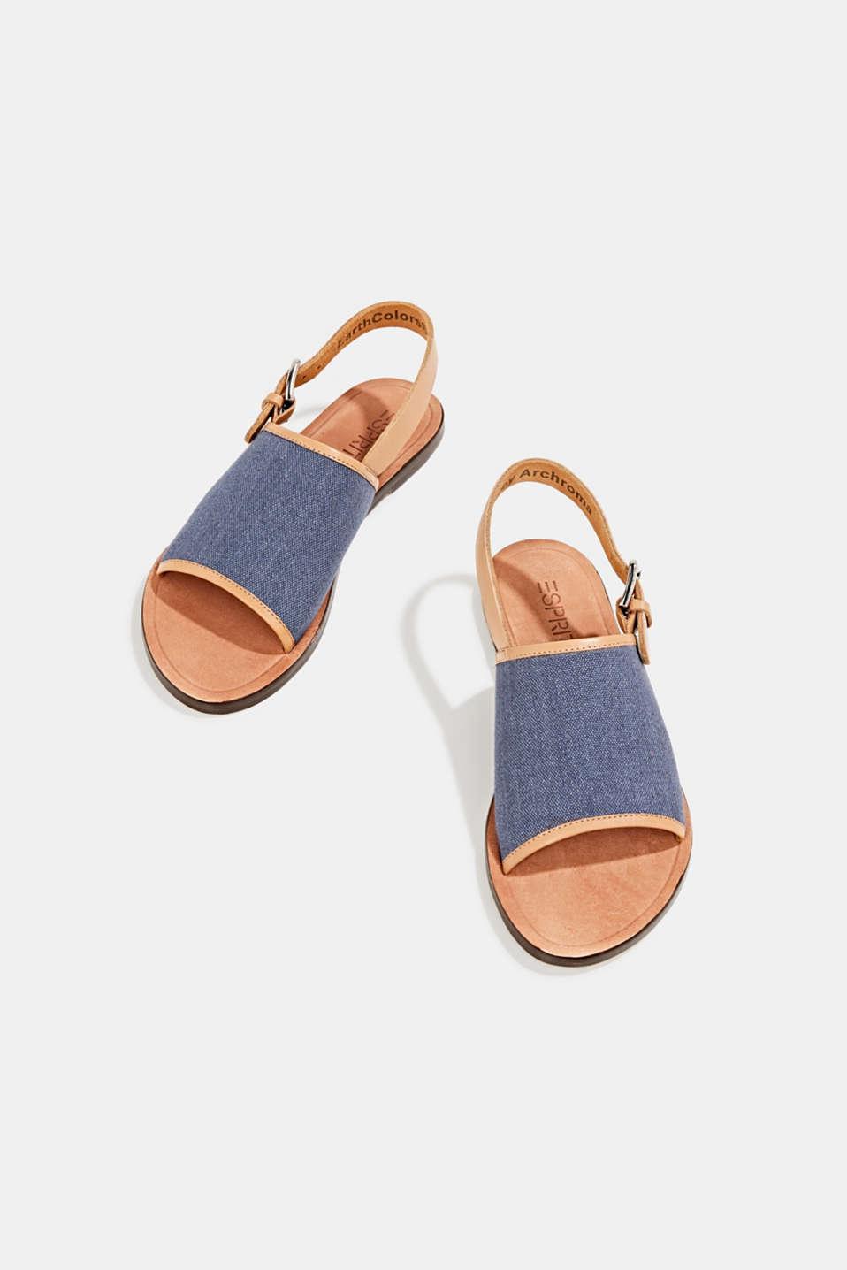 EarthColors® canvas sandals, LIGHT BLUE LAVENDER, detail image number 1