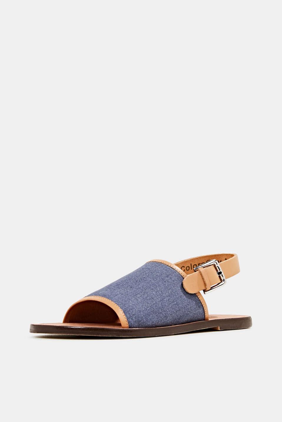 EarthColors® canvas sandals, LIGHT BLUE LAVENDER, detail image number 2