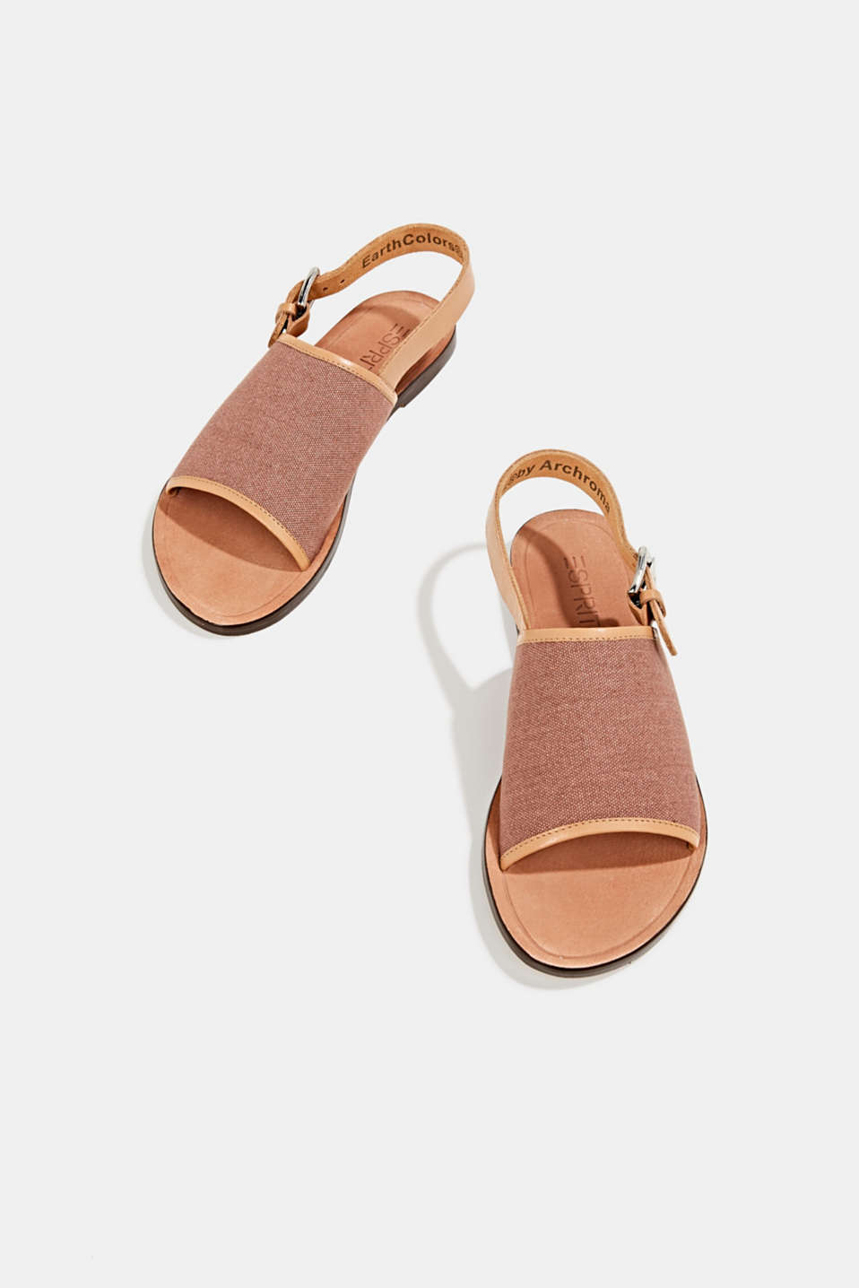 EarthColors® canvas sandals, MAUVE, detail image number 1