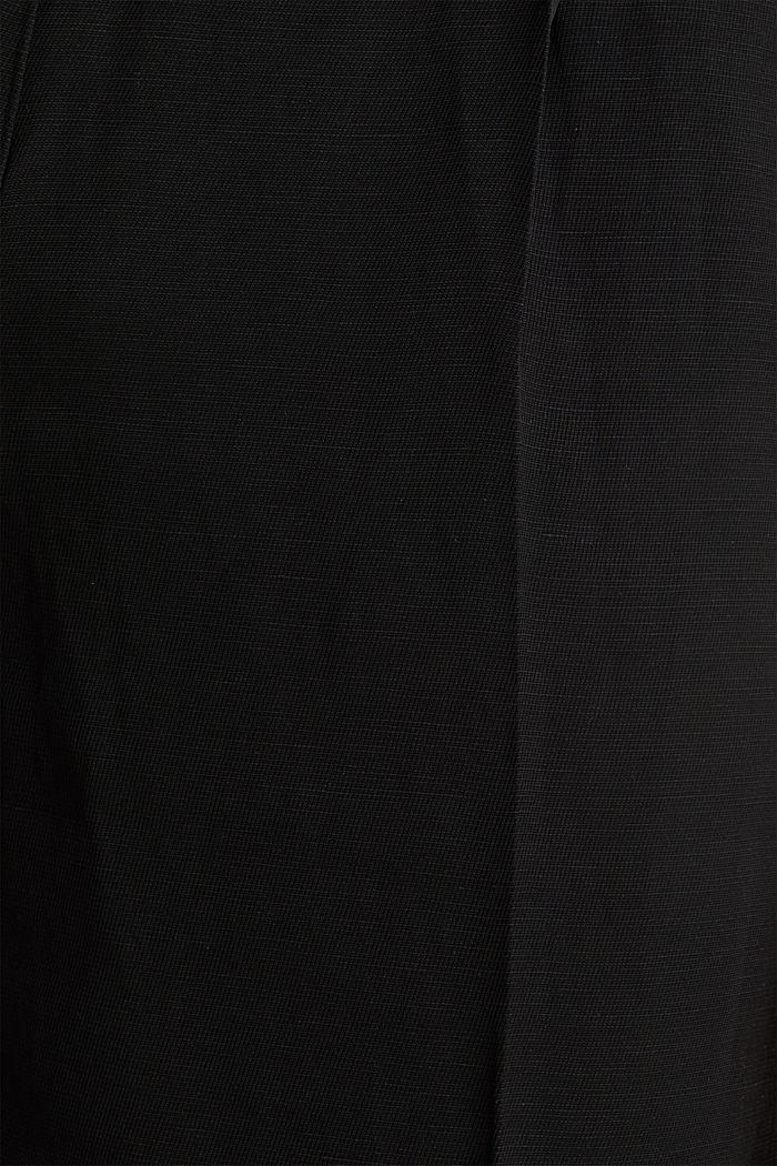 Culottes with a belt, BLACK, detail image number 4