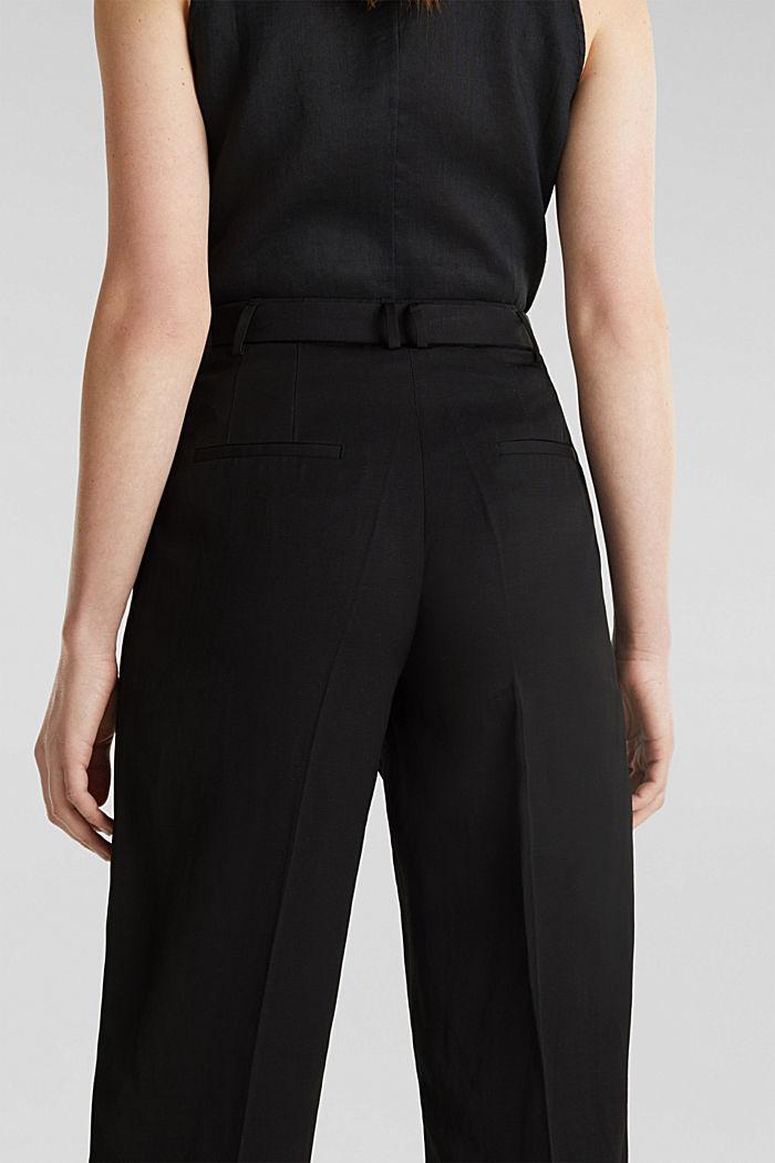 Culottes with a belt, BLACK, detail image number 5