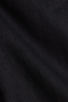 Made of linen: Skirt with a button placket, BLACK, detail