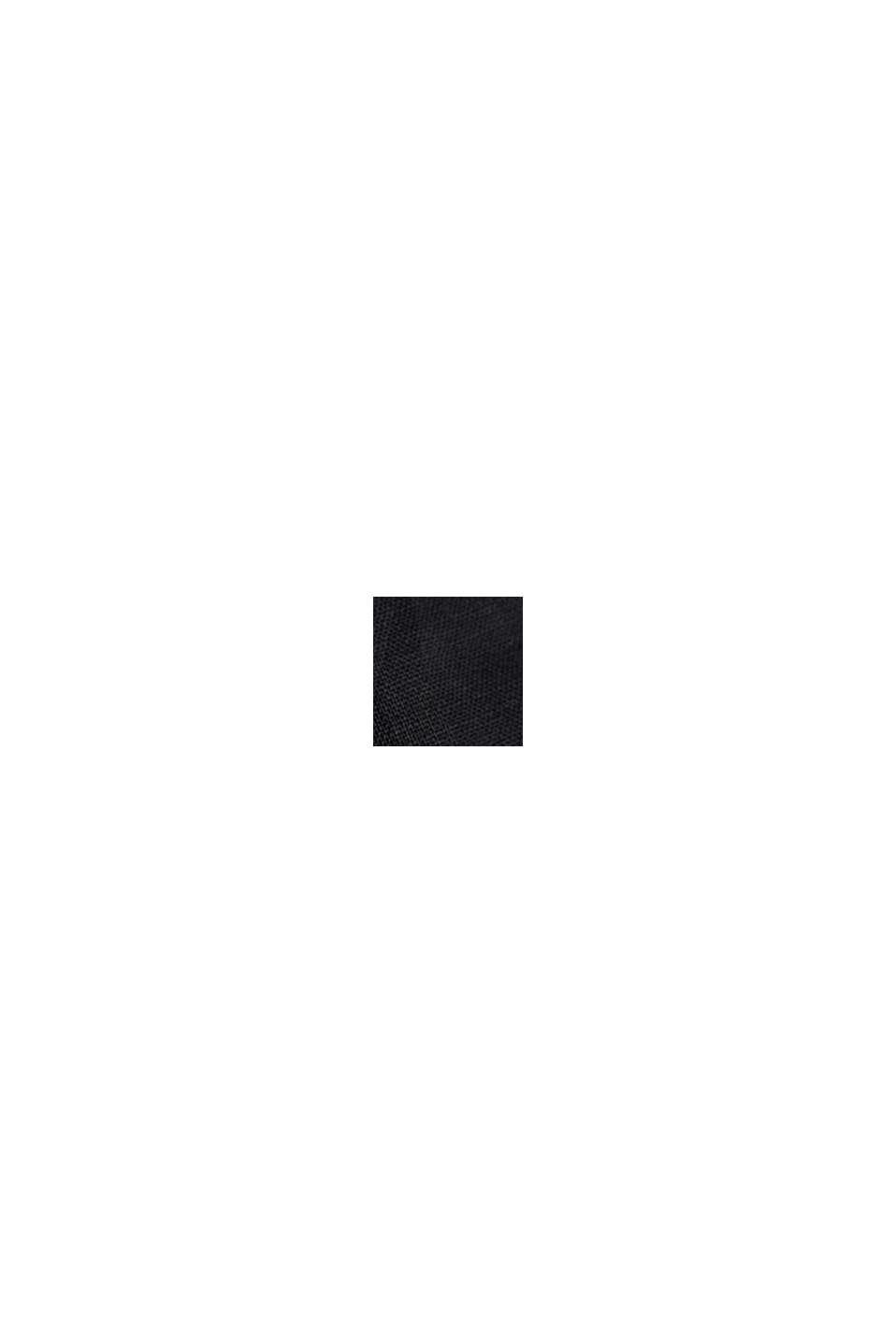 Van linnen: rok met knoopsluiting, BLACK, swatch
