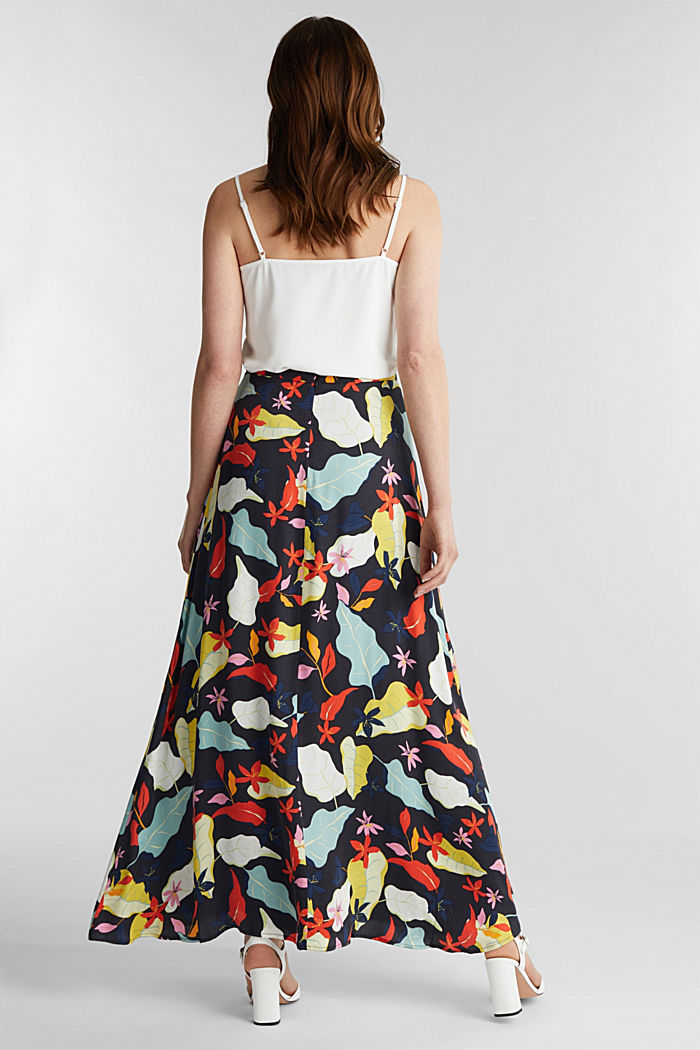 Made of LENZING™ ECOVERO™ Maxi skirt with a print, BLACK, detail image number 3