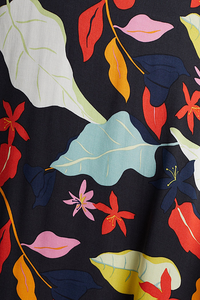 Made of LENZING™ ECOVERO™ Maxi skirt with a print, BLACK, detail image number 4