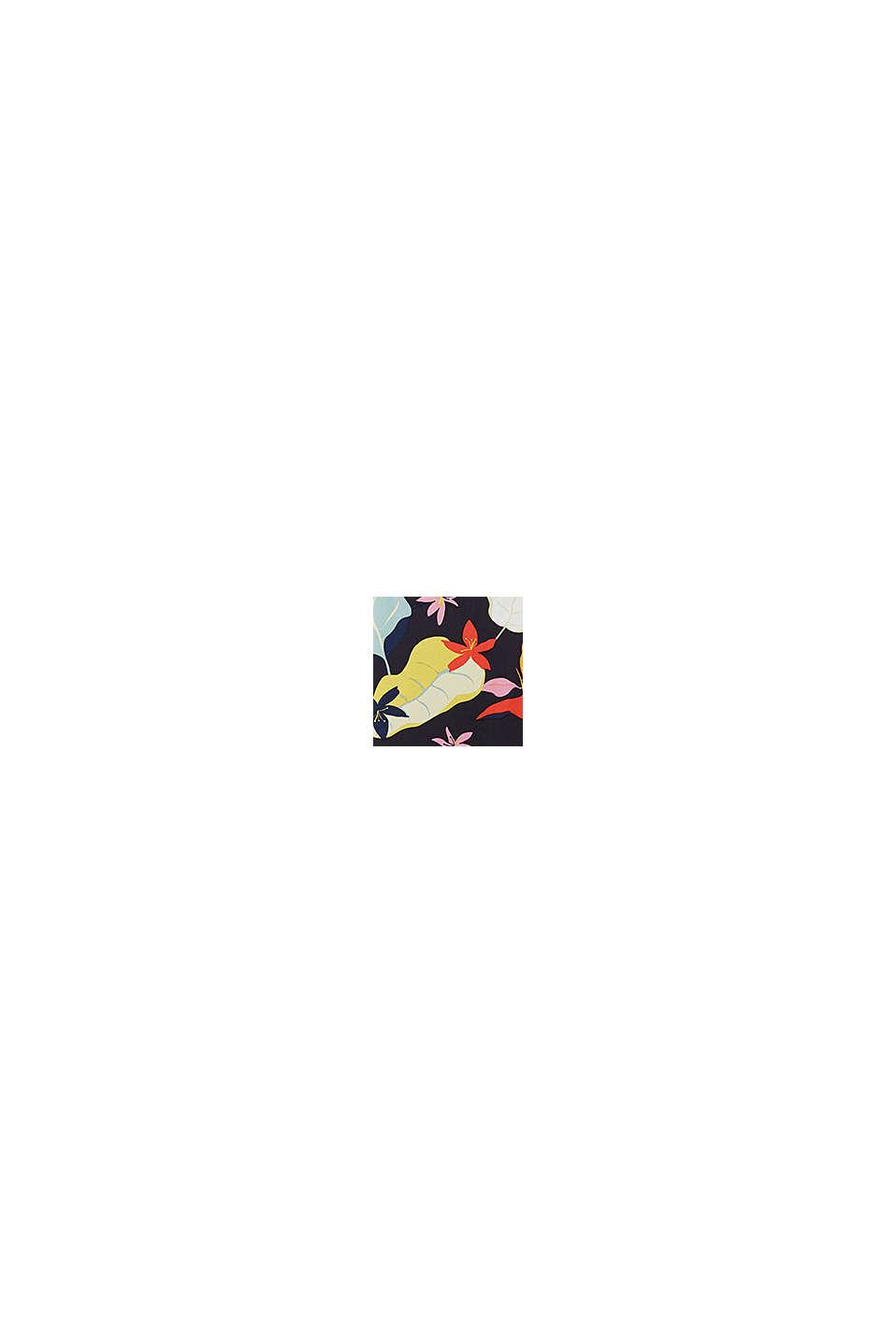 I LENZING™ ECOVERO™: Maxi-nederdel med print, BLACK, swatch