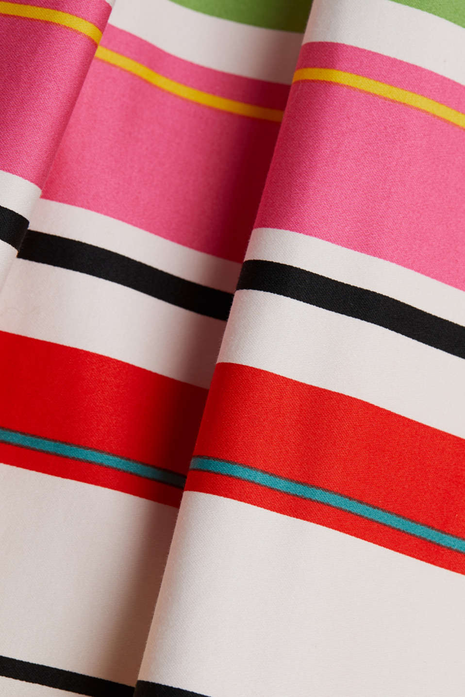 Striped skirt made of stretchy satin, WHITE 3, detail image number 4