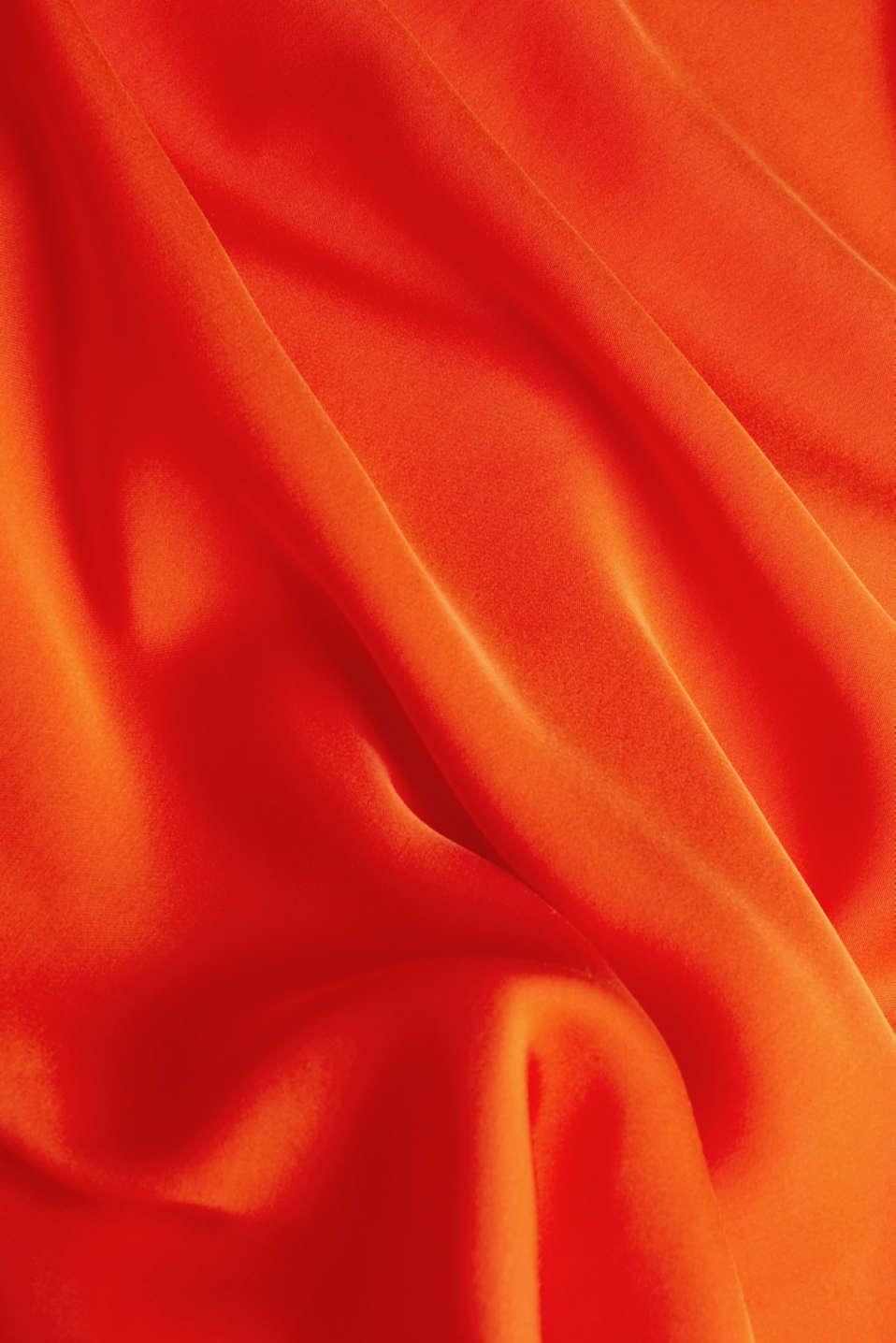 Maxi skirt made of viscose satin, RED ORANGE, detail image number 4