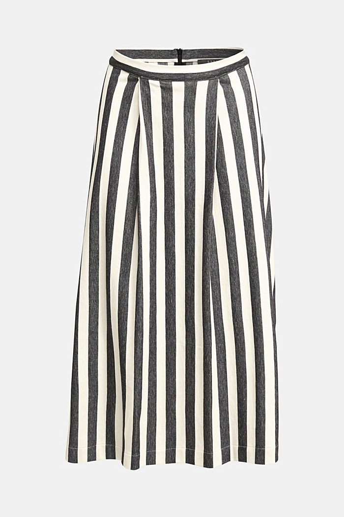 Midi skirt with front pleats, BLACK, detail image number 6