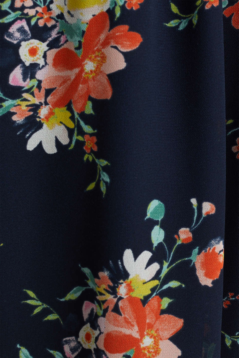 Skirt in floral crêpe chiffon, NAVY 4, detail image number 4