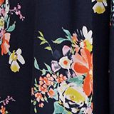 Skirt in floral crêpe chiffon, NAVY 4, swatch