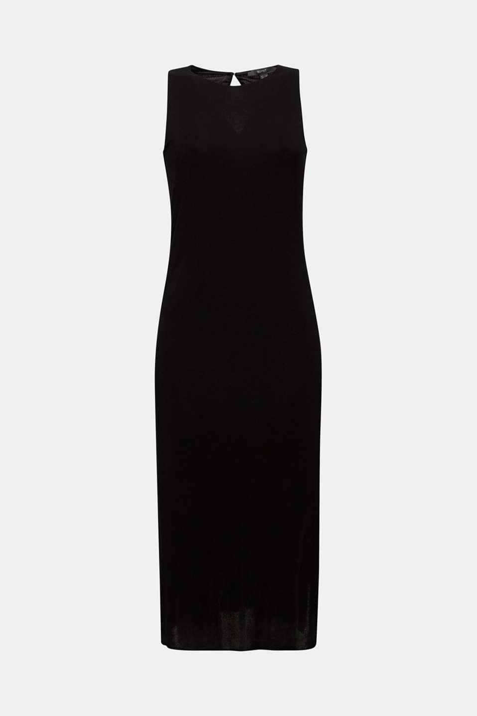 Crêpe jersey maxi dress, BLACK, detail image number 6