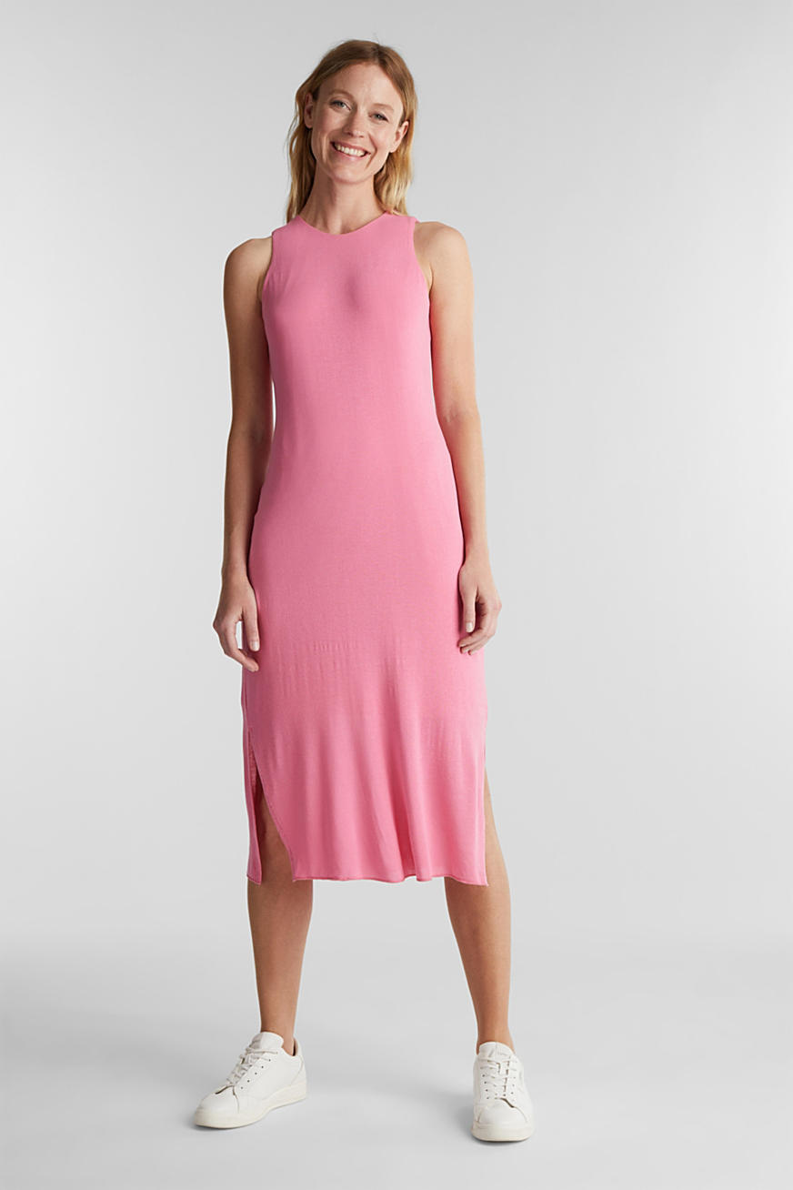 Crêpe jersey maxi dress