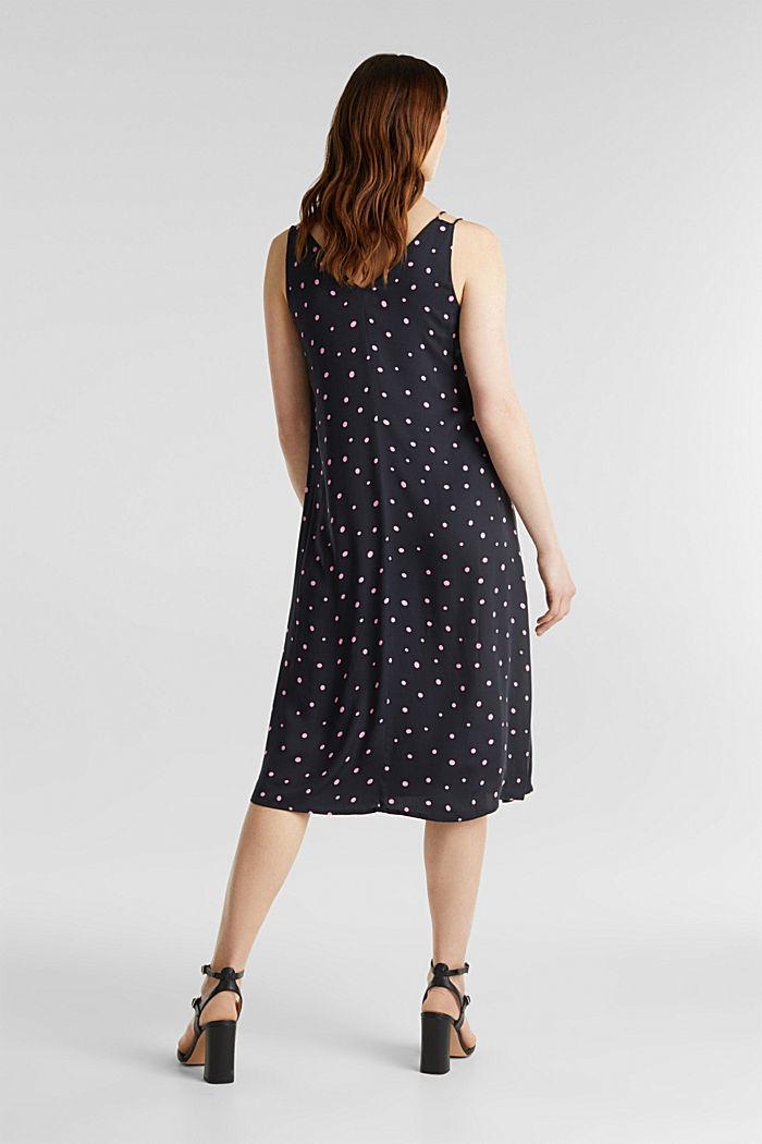Printed dress made of LENZING™ ECOVERO™, BLACK, detail image number 1