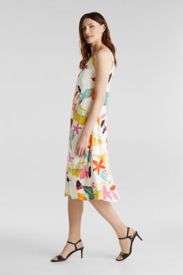 Printed dress made of LENZING™ ECOVERO™, OFF WHITE 4, detail