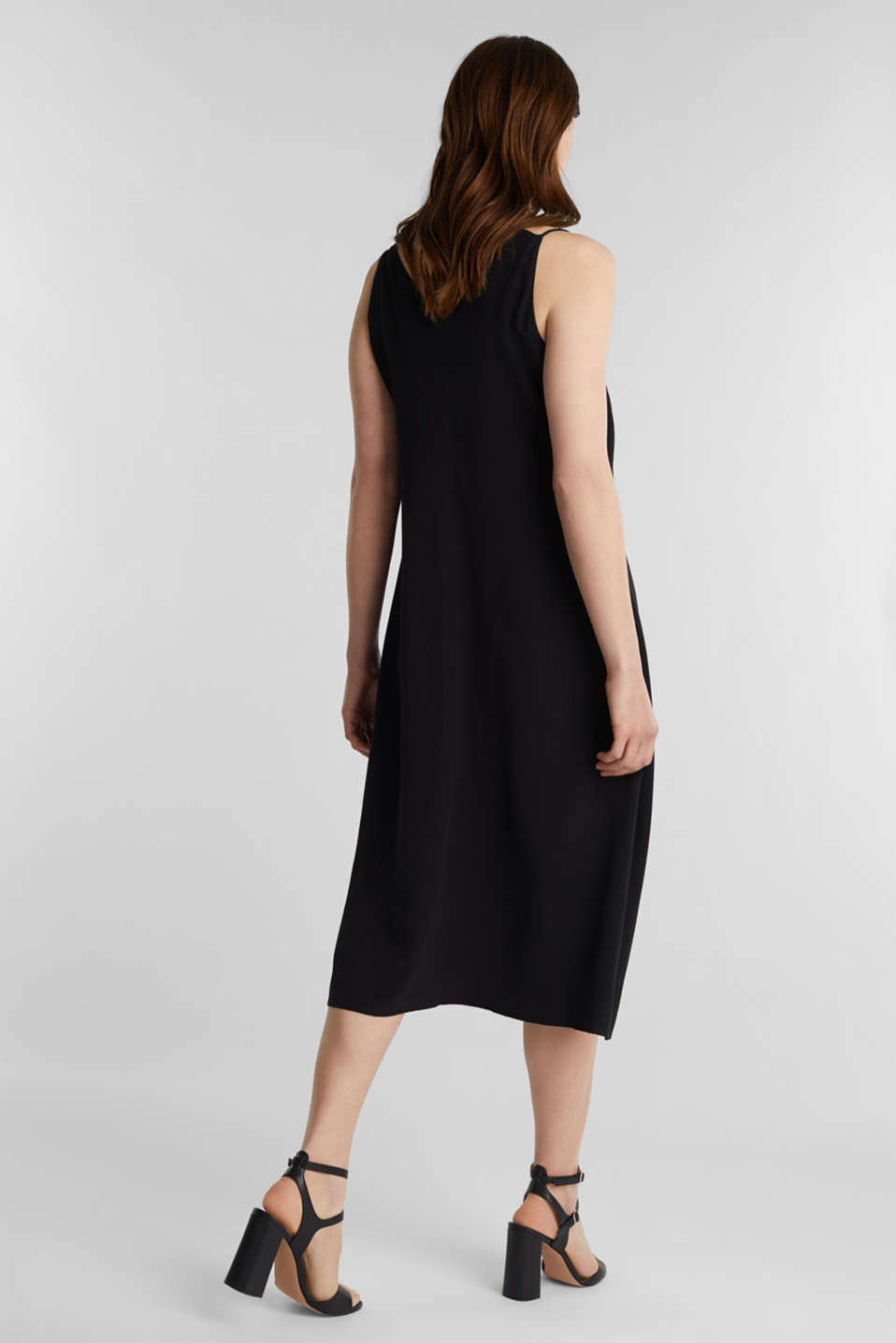 Made of LENZING™ ECOVERO™: Strappy dress, BLACK, detail image number 2