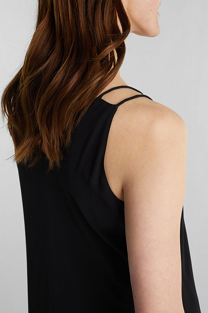 Made of LENZING™ ECOVERO™: Strappy dress, BLACK, detail image number 3