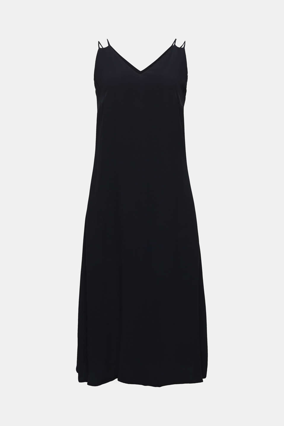 Made of LENZING™ ECOVERO™: Strappy dress, BLACK, detail image number 5