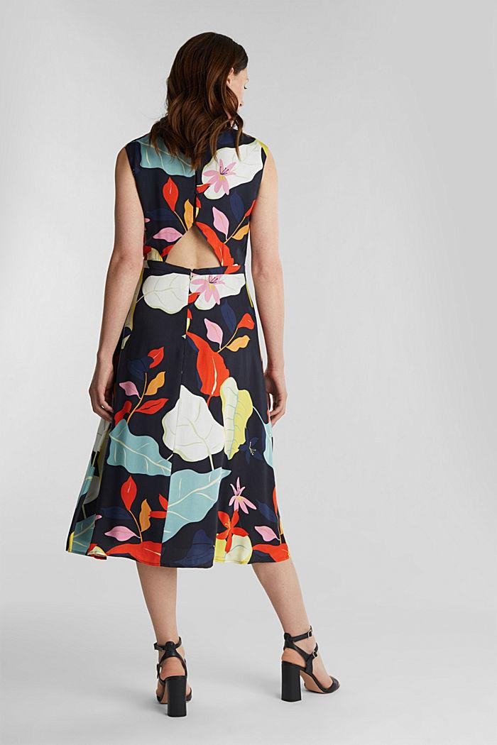 Midi šaty zvláken LENZING™ ECOVERO™, BLACK, detail image number 2
