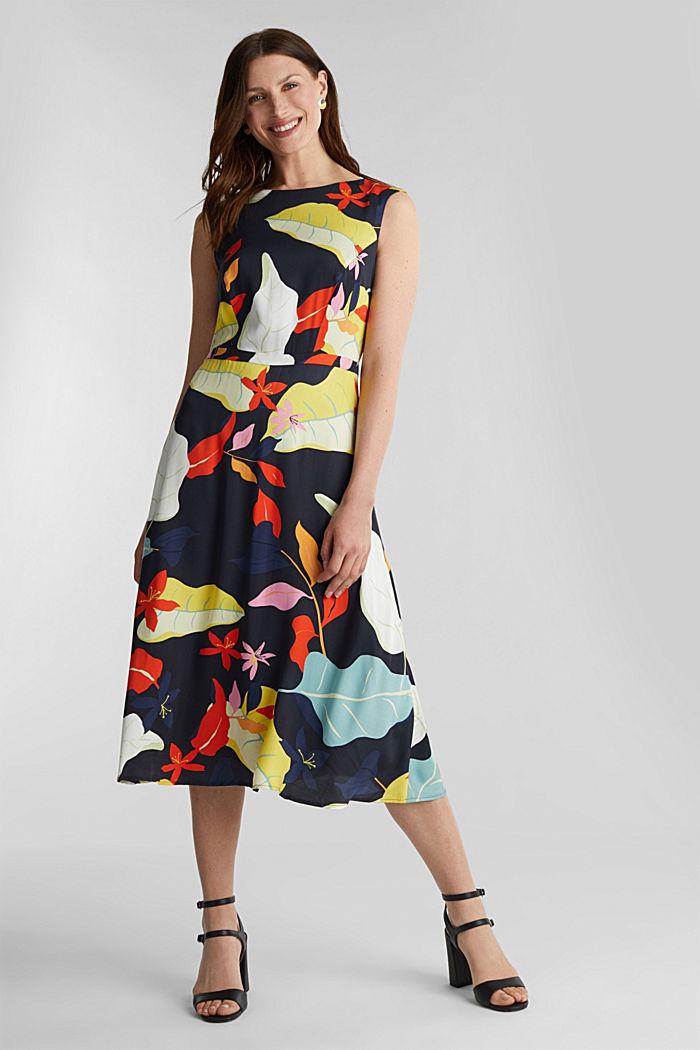 Midi dress with LENZING™ ECOVERO™, BLACK, detail image number 1