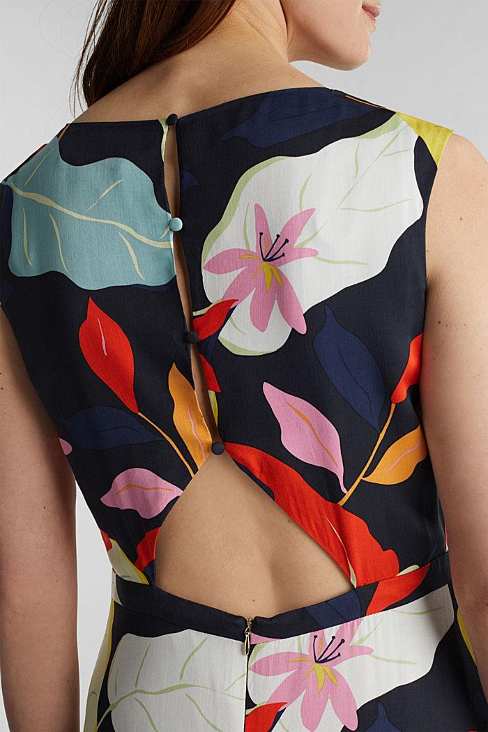 Midi šaty zvláken LENZING™ ECOVERO™, BLACK, detail image number 3