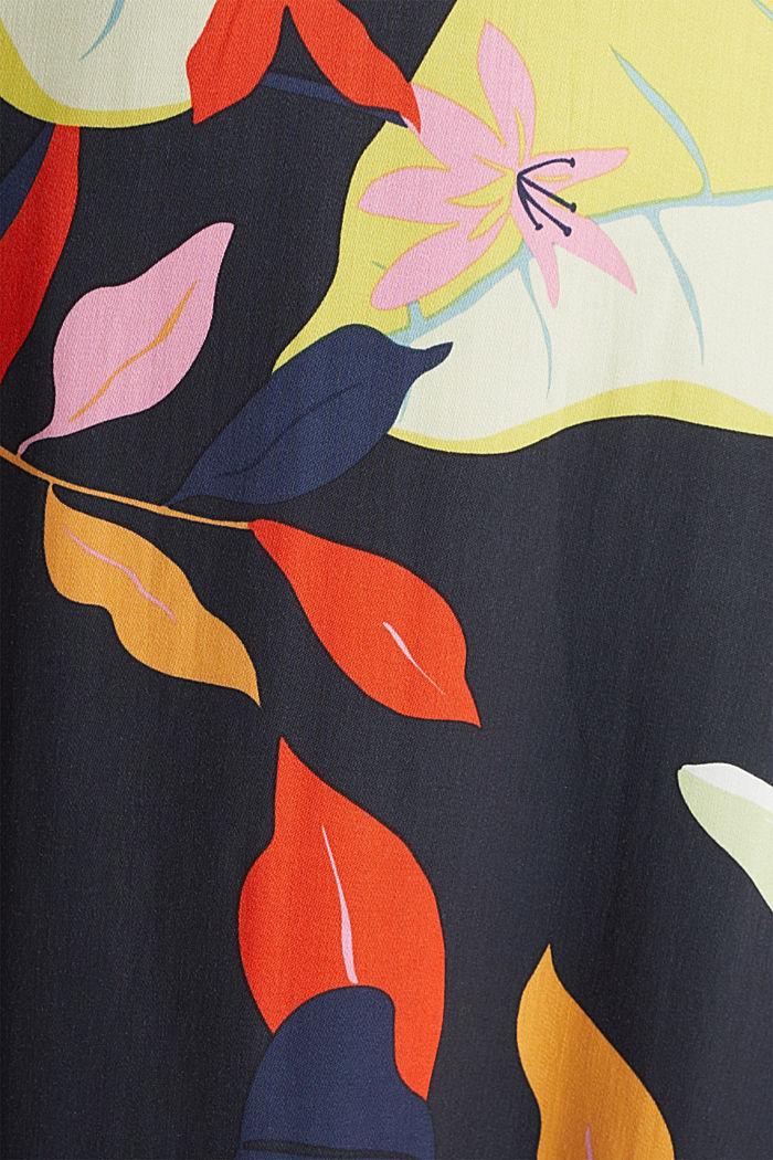 Midi šaty zvláken LENZING™ ECOVERO™, BLACK, detail image number 4