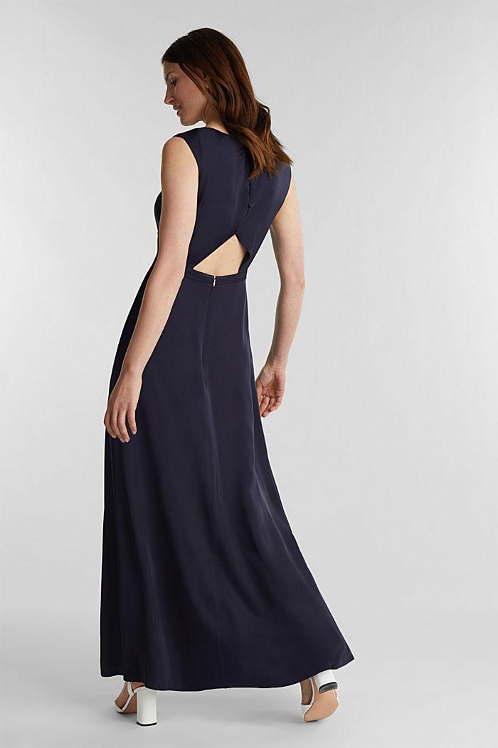 Satijnen maxi-jurk van LENZING™ ECOVERO™, NAVY, detail image number 2